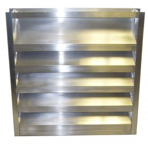 Flanged Chevron Channel Drainable Louvers Lloyd