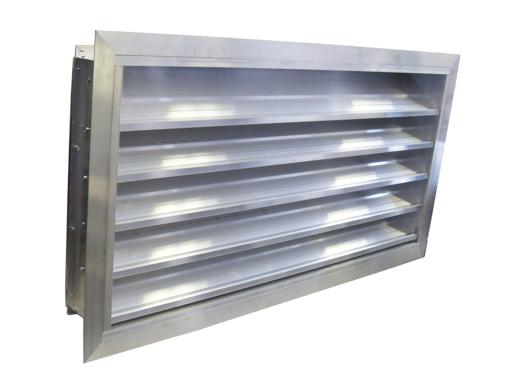 6 Inch Drainable Flanged Louver Model 6 Dlf Lloyd