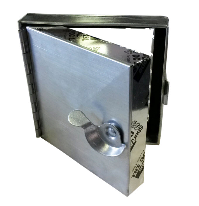 Small Access Doors : Duct door lock with an adhesive tape on the back this
