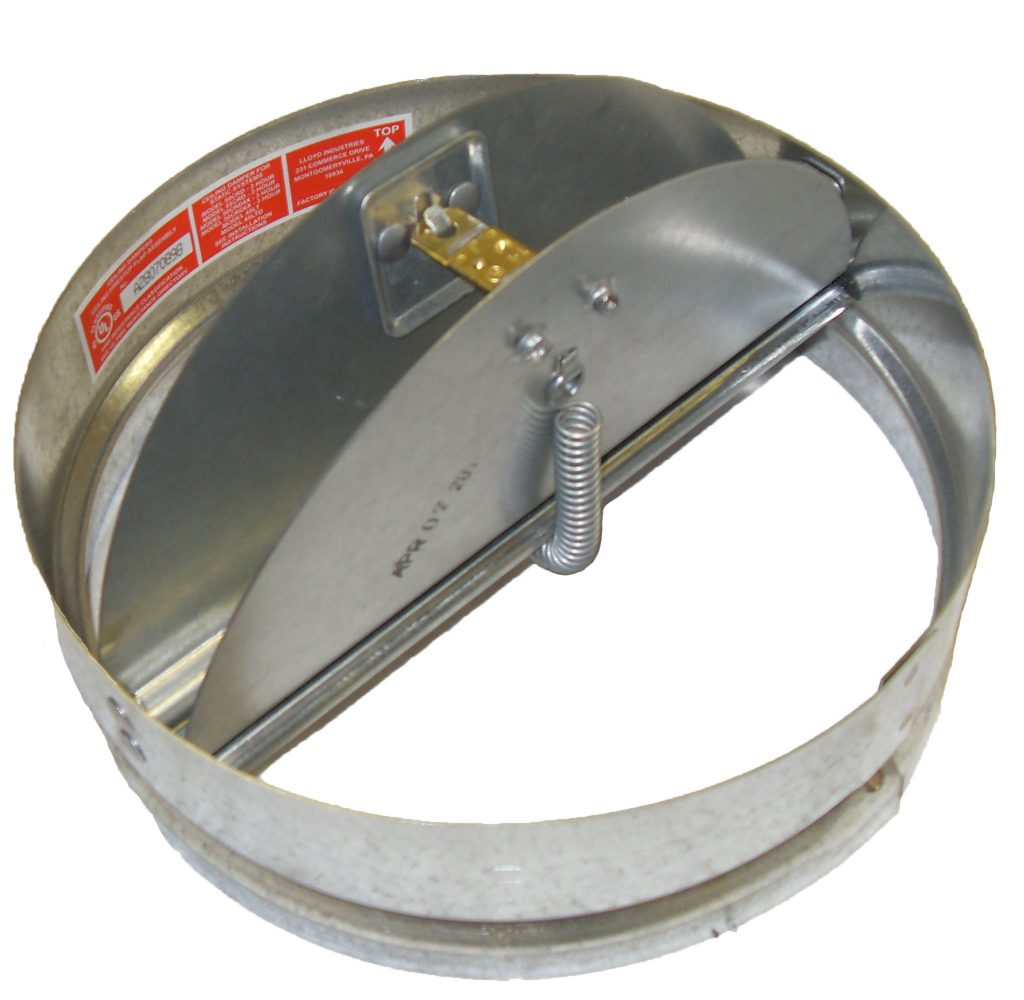 Round Easy Access Ceiling Radiation Damper Lloyd Industries
