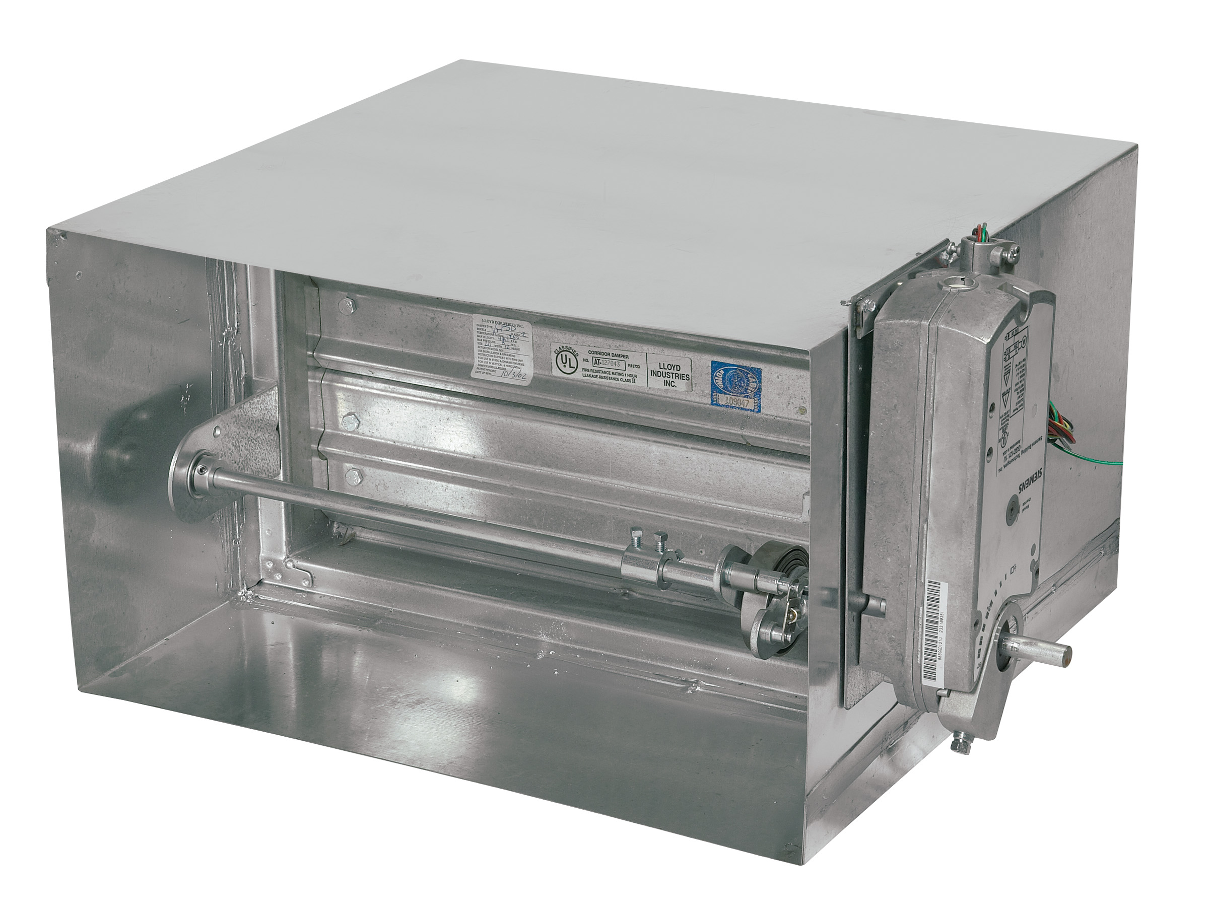 Ultra Low Leakage Smoke Damper # SD-333-1-PB - Lloyd Industries