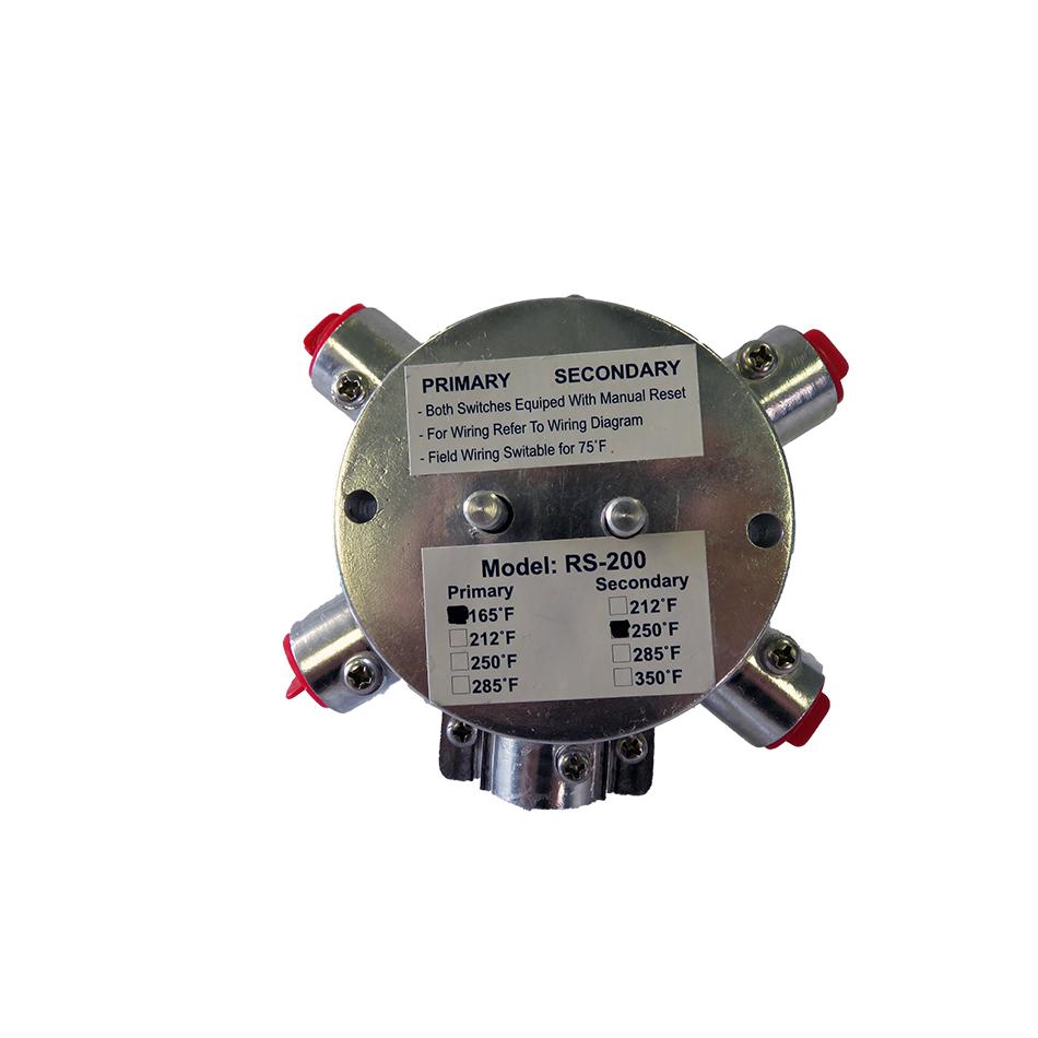 Lloydstat Smoke Damper Model Ls Lloyd Industries Fusible Link Wiring Diagram Rs 200 Electronic